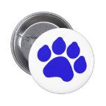 Botón de impresión azul de la pata pins