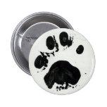 Botón de impresión blanco de la pata del tigre pins