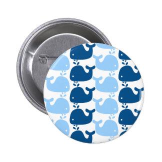 Botón de impresión de la silueta de la ballena pin