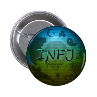 Botón de INFJ Pin Redondo De 2 Pulgadas