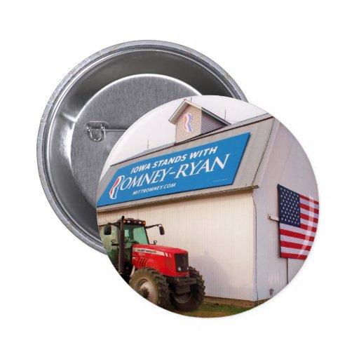 Botón de Iowa Romney-Ryan Pins