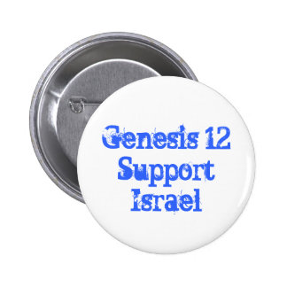 Botón de Israel de la ayuda de la génesis 12 Pin Redondo De 2 Pulgadas
