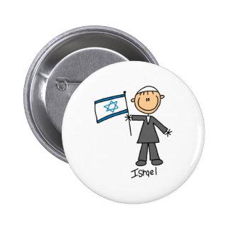 Botón de Israel Pin Redondo De 2 Pulgadas