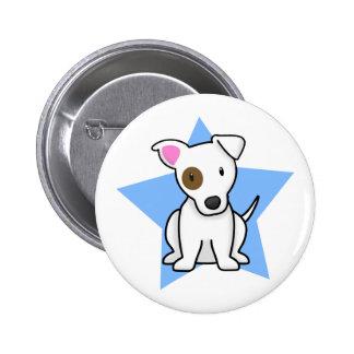 Botón de Jack Russell de la estrella de Kawaii Pin