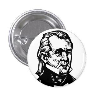 Botón de James K Polk Pin Redondo De 1 Pulgada