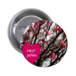 """""""Botón de Japón de la ayuda"""" Pin"""