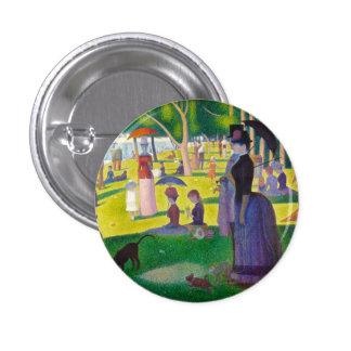 Botón de Jatte del La de Seurat grande Pin Redondo De 1 Pulgada