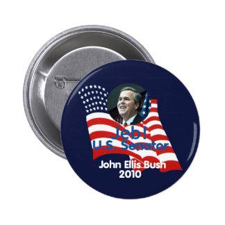 Botón de Jeb Bush 2010 Pin Redondo De 2 Pulgadas