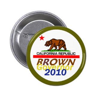 Botón de Jerry BROWN 2010 Pin