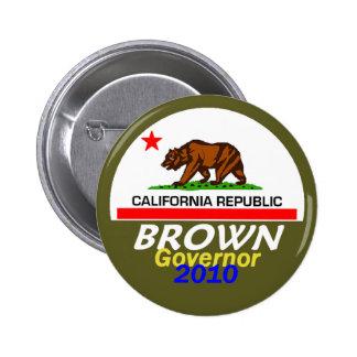 Botón de Jerry BROWN 2010 Pins