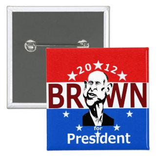 Botón de Jerry Brown 2012 Pin Cuadrado