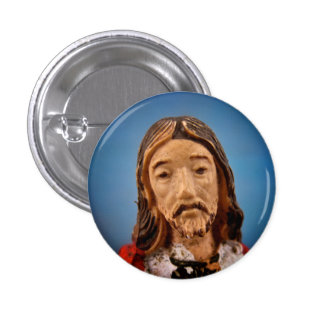 Botón de Jesús Pin Redondo De 1 Pulgada