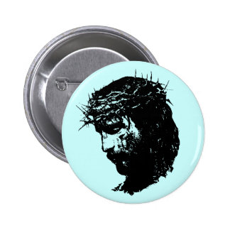 Botón de Jesús Pin Redondo De 2 Pulgadas