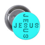 Botón de Jesús - rojo Pin