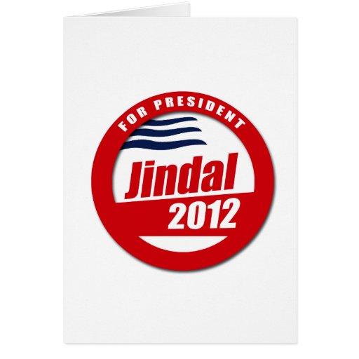 Botón de Jindal 2012 Tarjeta De Felicitación