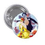 Botón de Julio Cheret Carnaval Pin Redondo De 1 Pulgada