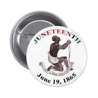 Botón de Juneteenth Pin Redondo De 2 Pulgadas