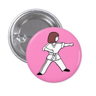 Botón de Karate Kid 10 Pin Redondo De 1 Pulgada