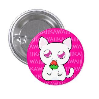 Botón de Kawaii Koneko Pin Redondo De 1 Pulgada