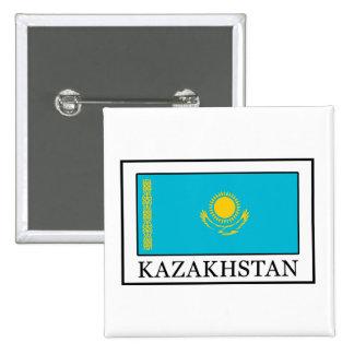 Botón de Kazajistán Pin Cuadrado