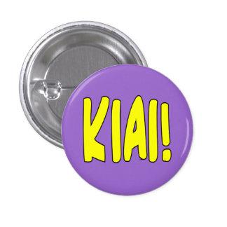 Botón de Kiai de los artes marciales Pin Redondo De 1 Pulgada