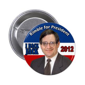 Botón de Kimble 2012 Pin Redondo De 2 Pulgadas