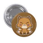 Botón de Kitsune Pin Redondo De 1 Pulgada