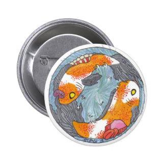 Botón de Koi del zombi Pin Redondo De 2 Pulgadas