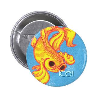 Botón de Koi Pin Redondo De 2 Pulgadas