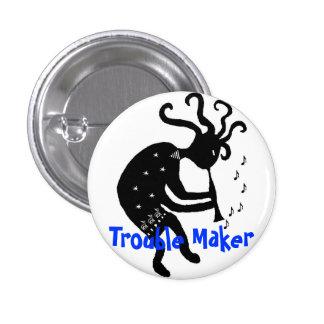 Botón de Kokopelli Pin Redondo De 1 Pulgada