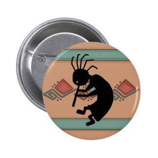 Botón de Kokopelli Pin Redondo De 2 Pulgadas