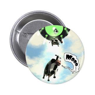 Botón de la abducción de la vaca del UFO Pins