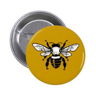 Botón de la abeja de Mellifera de los Apis Pin Redondo De 2 Pulgadas