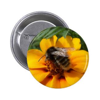 Botón de la abeja pin redondo de 2 pulgadas