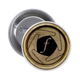 Botón de la abertura pin redondo de 2 pulgadas
