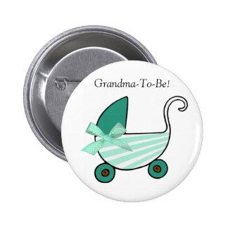 Botón de la abuela del carro de bebé del trullo pin redondo de 2 pulgadas