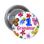 Botón de la abuela del número uno pin