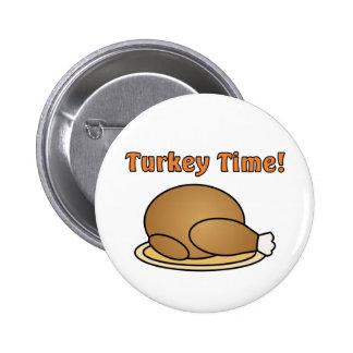 Botón de la acción de gracias del tiempo de