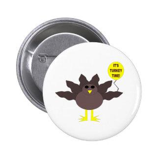Botón de la acción de gracias del tiempo de Turquí Pins