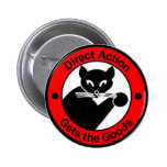 Botón de la acción directa pin redondo de 2 pulgadas