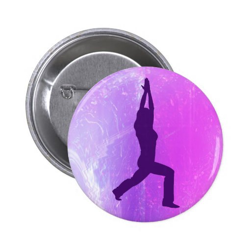 Botón de la actitud del guerrero de la yoga pins