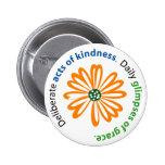 Botón de la amabilidad y de la tolerancia pins