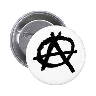 Botón de la anarquía (negro) pin