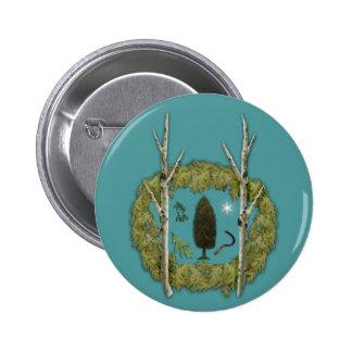 Botón de la arboleda pin redondo de 2 pulgadas