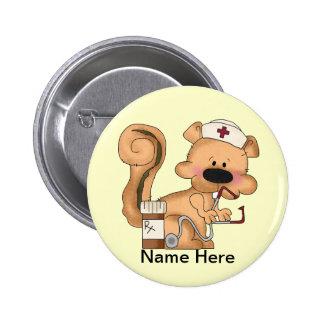 Botón de la ardilla de la enfermera pin