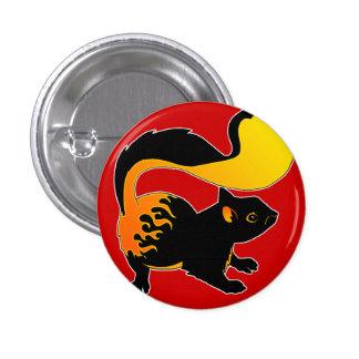Botón de la ardilla del fuego pin redondo de 1 pulgada