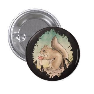 Botón de la ardilla pin redondo de 1 pulgada