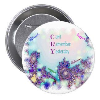 Botón de la ayuda de Alzheimers Pin Redondo De 3 Pulgadas