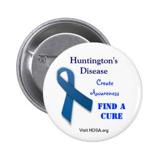 Botón de la ayuda de la enfermedad de Huntington Pins
