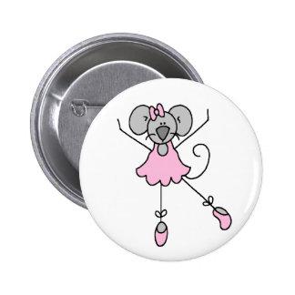 Botón de la bailarina tres del ratón pin